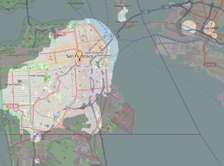 ÖPNV in San Francisco / BART Qualität des Nahverkehrs Zeitabhängigkeit