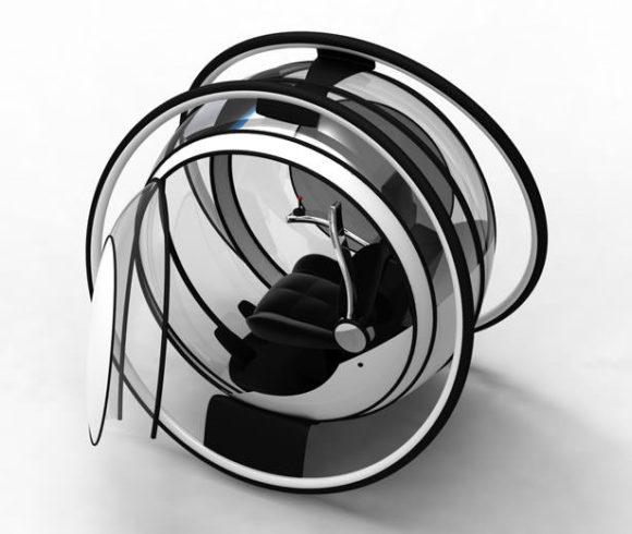 Designstudie Elektroauto Einsitzer Mobilität der Zukunft Stadt 2020