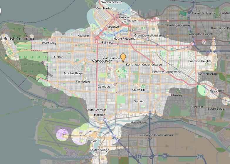 ÖPNV in Vancouver Qualität des Nahverkehrs Zeitabhängigkeit