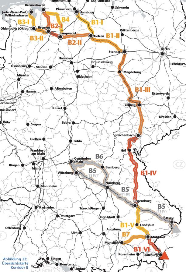 Verlauf A14-Stendal