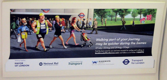Warnung TfL London Olympia 2012
