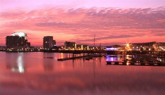 Cardiff Hafen Panorama