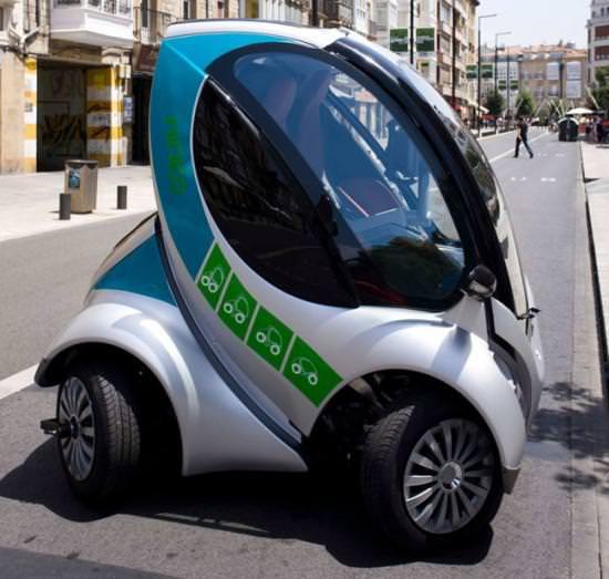 Hiriko Fold MIT Elektroauto Zweisitzer faltbar