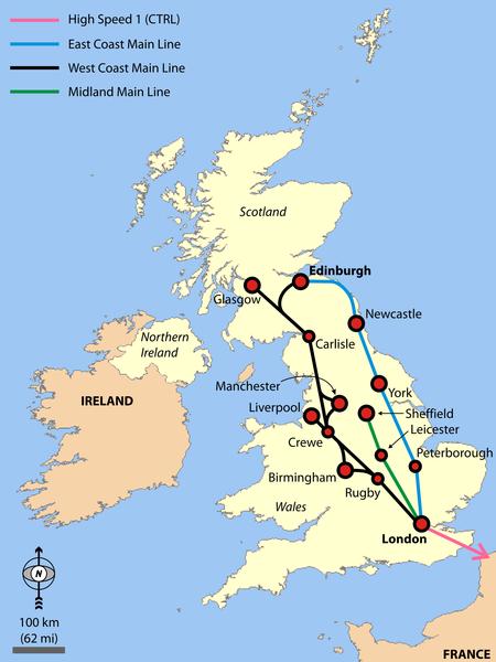 Eisenbahn in Großbritannien UK
