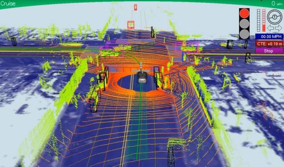Google Daten Kreuzung autonomes Fahrzeug