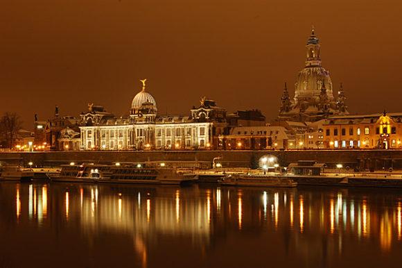 Brühlsche Terasse Dresden Nacht
