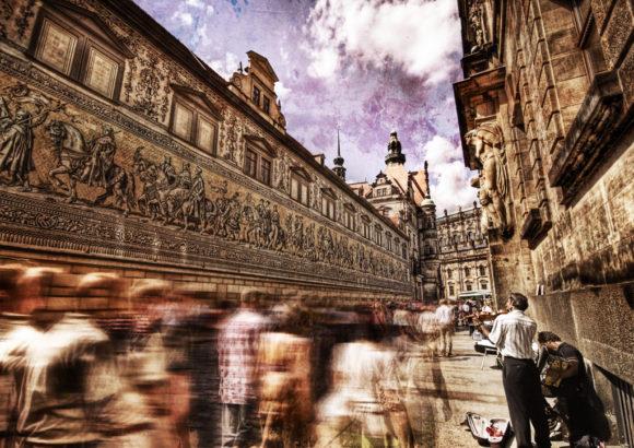 Dresden Porzellanbild König August