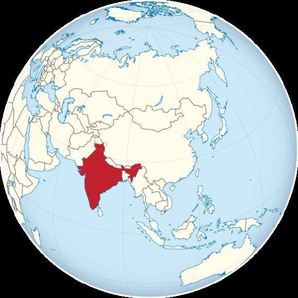 Weltkarte Indien