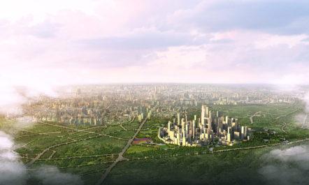 Entsteht in China eine autofreie Stadt, in der alles maximal 15 Minuten Fußweg entfernt ist?