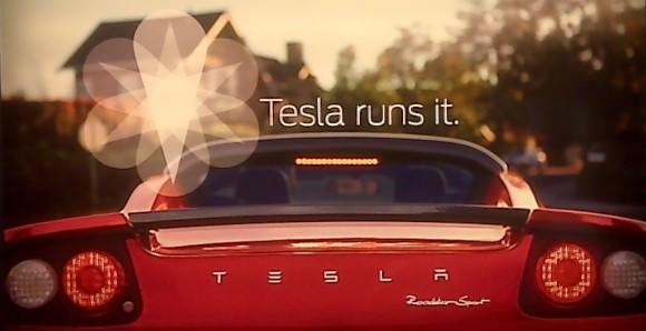 Werbeplakat von Tesla