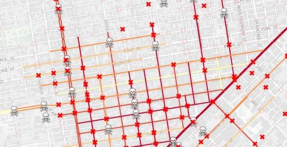 Getötete Fußgänger in Los Angeles