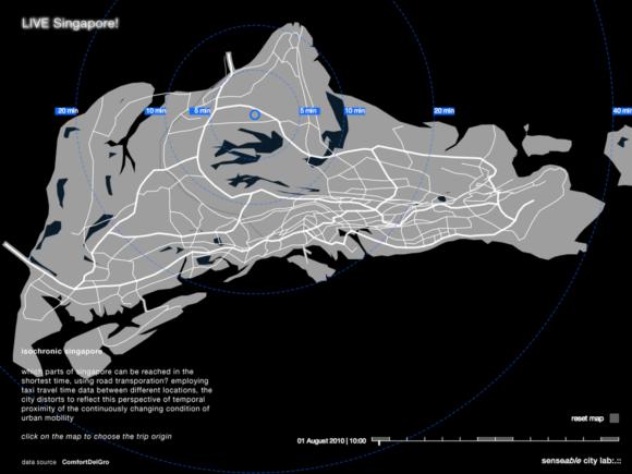 Isochronen Singapur Zeitwiderstand Raumwiderstand