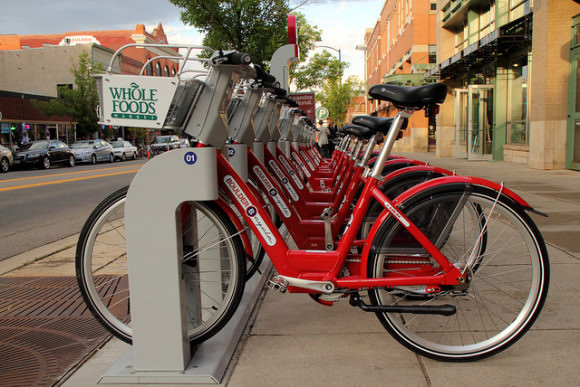 Bikesharing Bolder Colorado USA