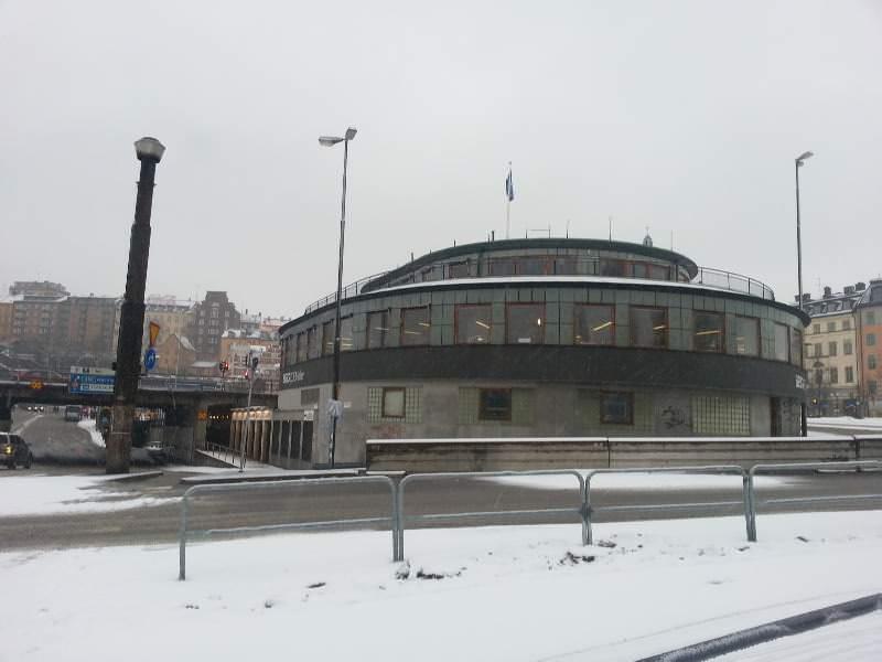 Slussen abrissreifes Gebäude