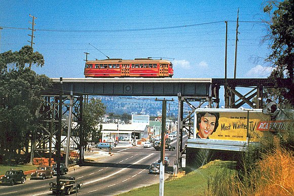 Vintage Straßenbahn Los ANgeles