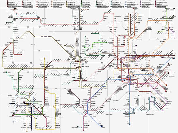 Subway U-Bahnen in Nordamerika Netzplan