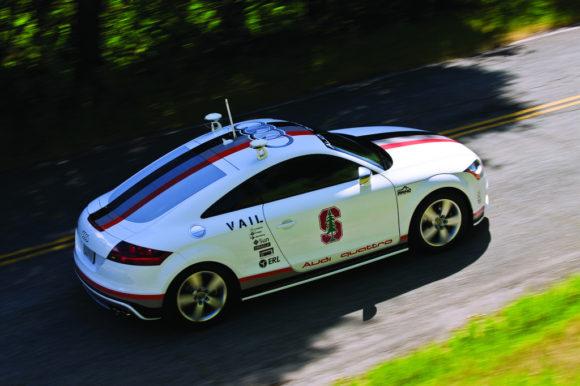 Audi autonomes Fahrzeug Roboterauto