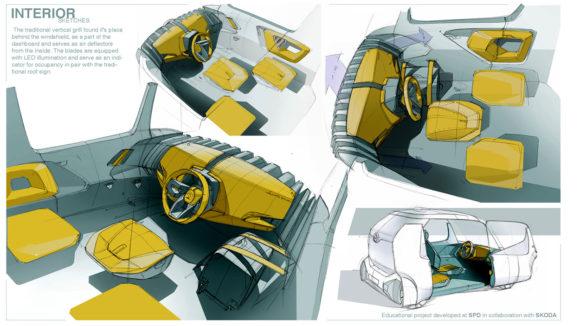 Maxim Shershnev und Tigran Lalayan Taxi Mailand Innenraum Konzept Designstudie