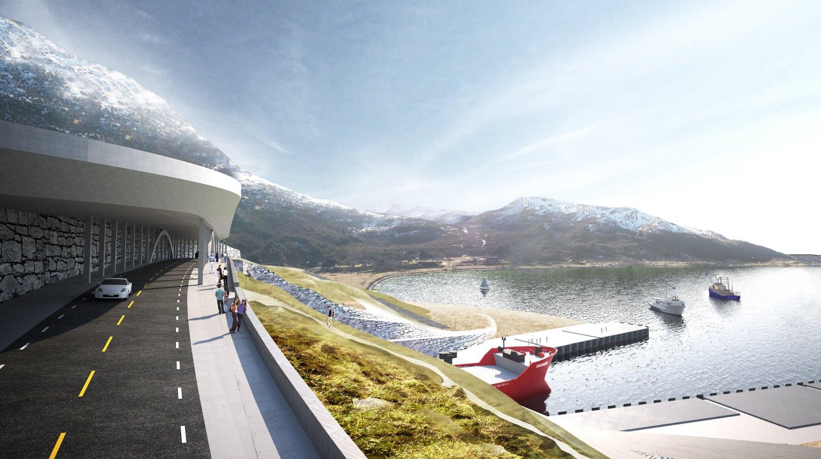 Moldefjorden Brücke Schiffstunnel Norwegen