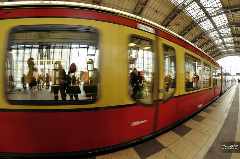 Fisyeye Effekt S-Bahn Berlin