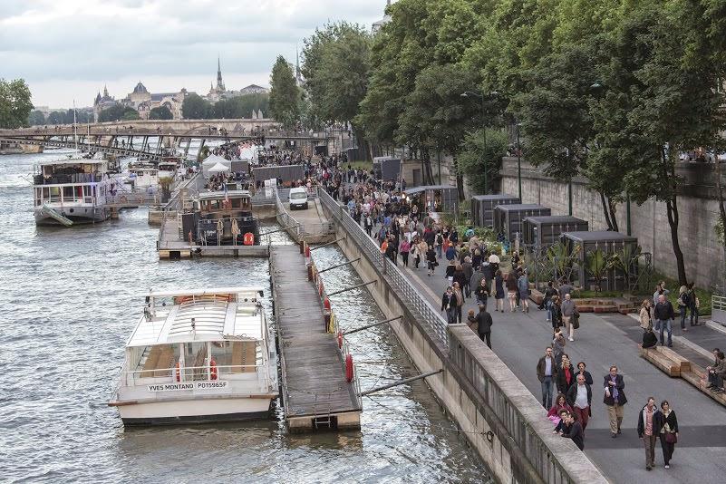 Grün am Pariser Seineufer
