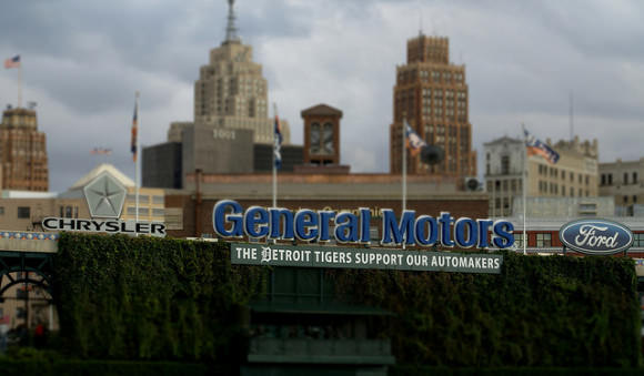 GM Detroit Chrysler Schild Ford