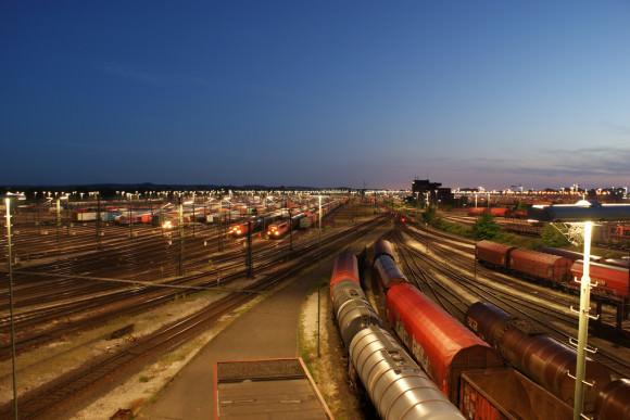 HDR-Aufnahme Rangierbahnhof Maschen