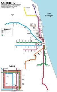 Netzplan Chicago L