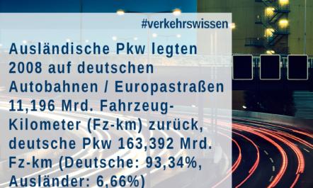 [Pkw-Maut in Deutschland] Vignette für Ausländer – Wie viele ausländische Pkw nutzen das deutsche Autobahnnetz?