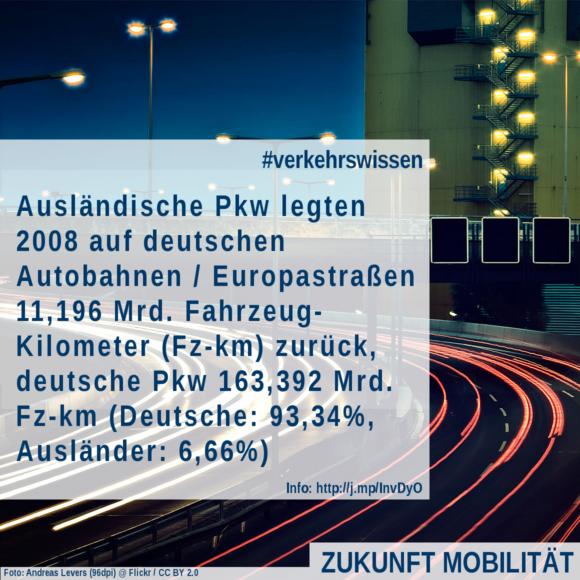 Wie viele Ausländer fahren auf deutschen Autobahnen? Pkw-Maut Vignette Diskussion