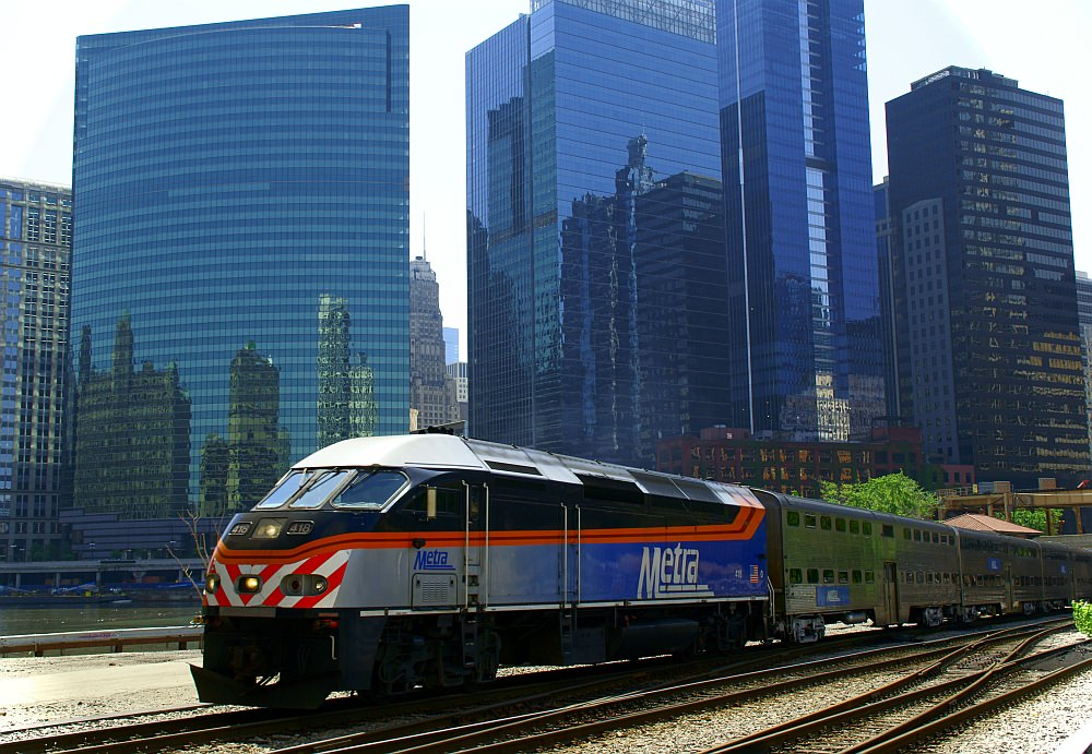 Metra Zug Chicago