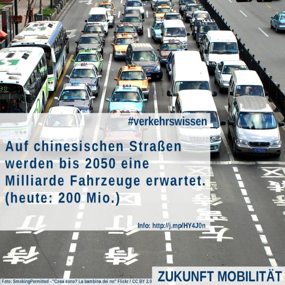 Eine Milliarde Fahrzeuge Prognose China 2050