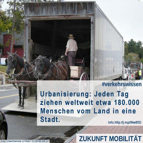 Urbanisierung Wie viele Menschen ziehen jede Tag in eine Stadt? Landgflucht 180000 am Tag