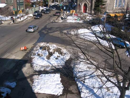 Sneckdown Philadelphia Schnee Umplanung