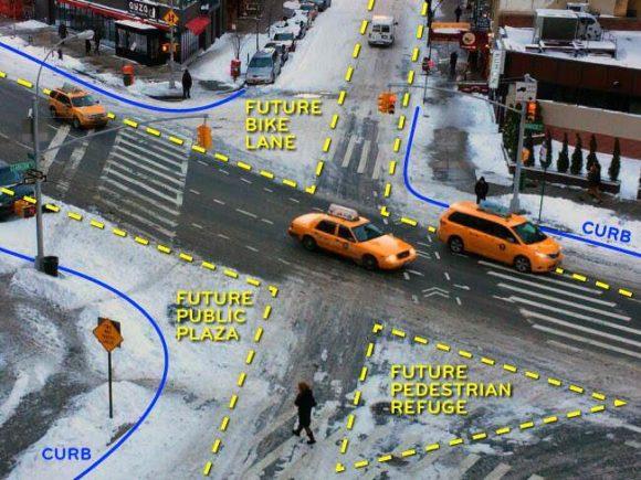 Sneckdown Schnee Verkehr USA