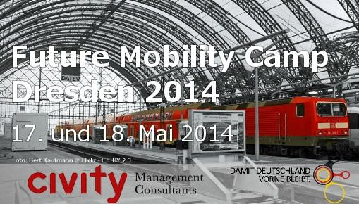 "[Jetzt anmelden] Future Mobility Camp Dresden 2014 am 17. und 18. Mai 2014<span class=""wtr-time-wrap after-title"">~<span class=""wtr-time-number"">4</span> Minuten Lesezeit</span>"