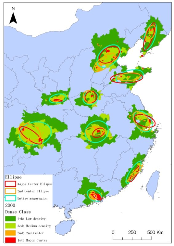 Dichte China Metropolen