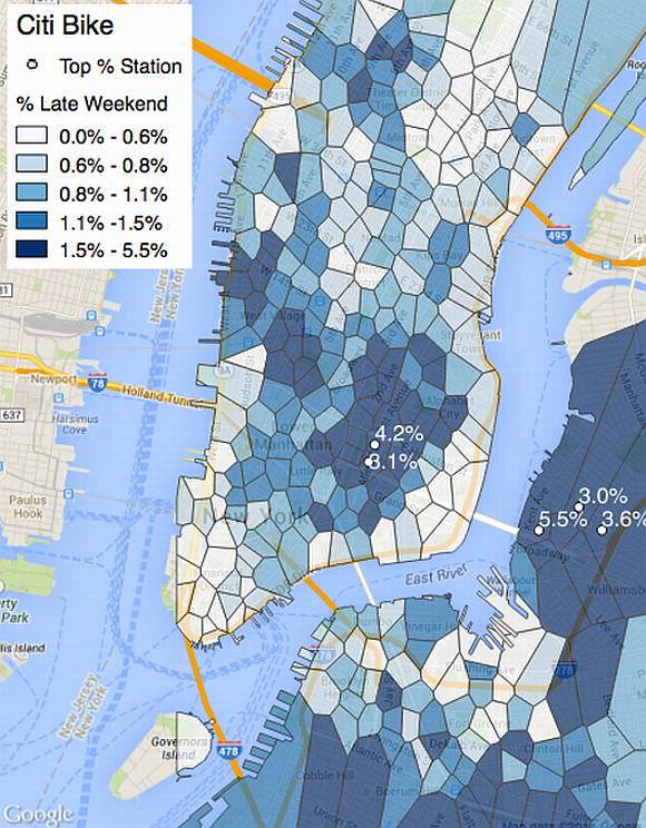 Karte: Wo kann man in New York am besten Party machen feiern?