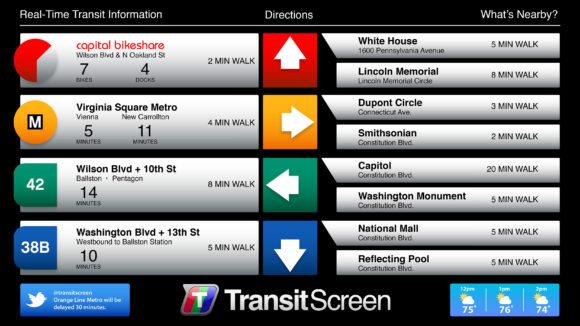 TransitScreen Beispiel