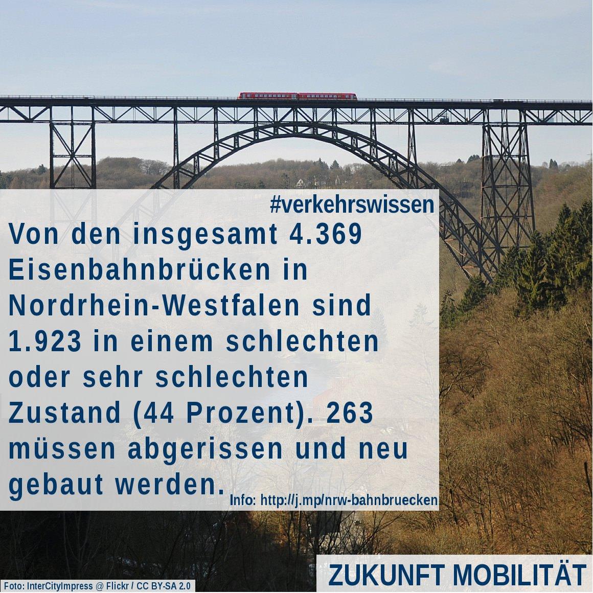 Zustand der Eisenbahnbrücken in Nordrhein-Westfalen Baufälligkeit