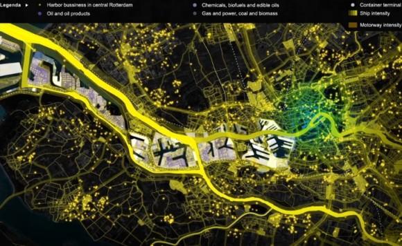 Güter in Rotterdam Visualisierung des Stroms