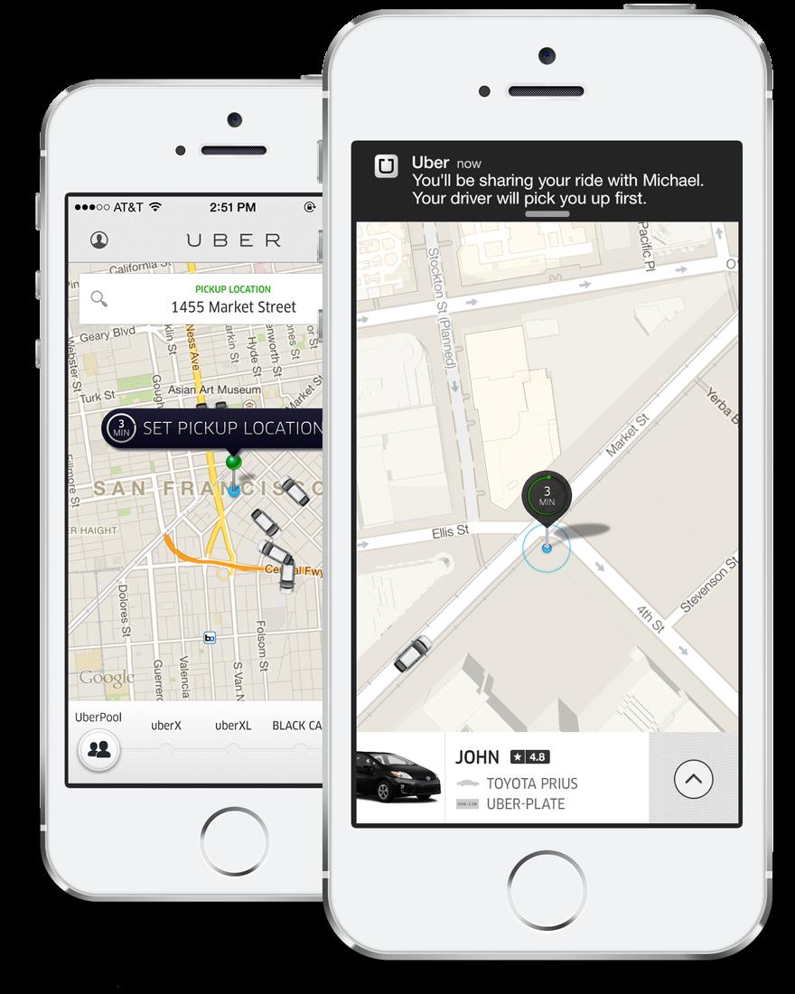 [UberPool, Lyft Line & Co] Rideselling-Angebote Uber, Lyft und SideCar starten richtige Ridesharing-Angebote mit dem Ziel den Pkw-Besitz zu verringern