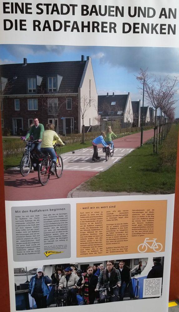 Radverkehr in Kopenhagen - Ausstellung the good city Fahrrad Gute Radverkehrsinfrastruktur in den Niederlanden