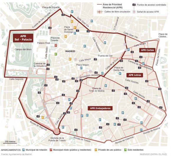 Madrid Fußgängerzone autofreie Zone APR