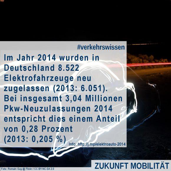 Elektroauto Zulassungen Neuzulassungen im Jahr 2014 Statistik