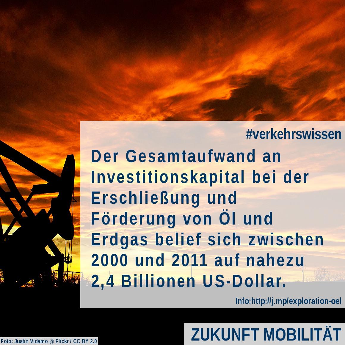 [Verkehrswissen kompakt] Explorationskosten für Erdöl und Erdgas zwischen 2000 und 2011