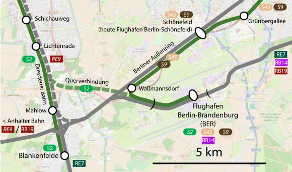 Anbindung des BER Flughafen Berlin Brandenburg BER