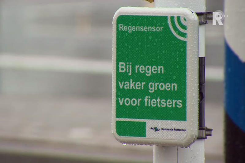 Regensensor in Rotterdam