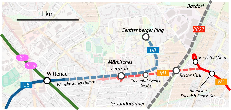 Erweiterung U-Bahn Märkisches Viertel