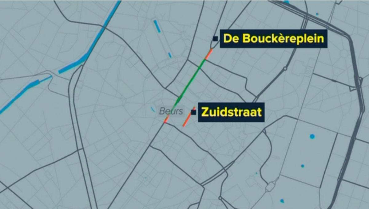 Anpassung der Fußgängerzone in brüssel